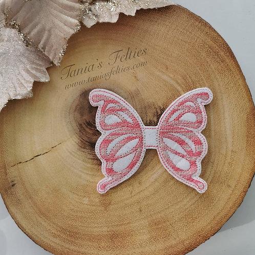 Raspberry Ripple Butterfly Oversized Feltie (Glitter)
