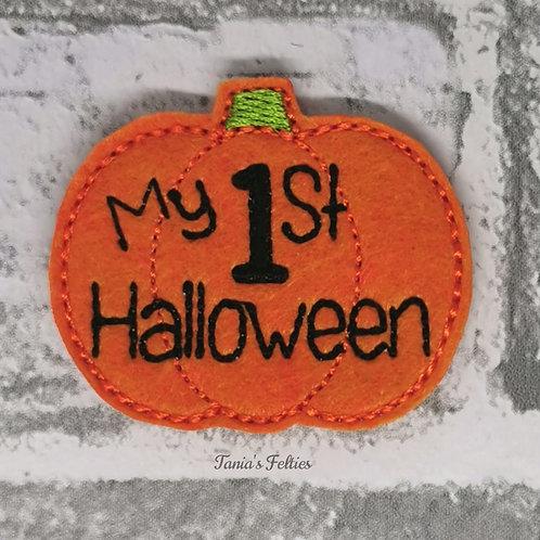 My 1st Halloween Pumpkin Feltie (Pack of 4)