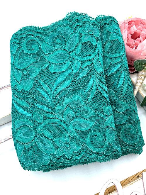Luxury Lace Fabric Strips - Teal