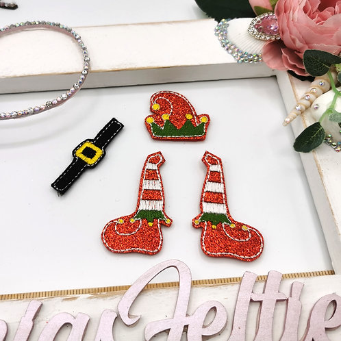 Elf Bow Parts (Red Glitter)
