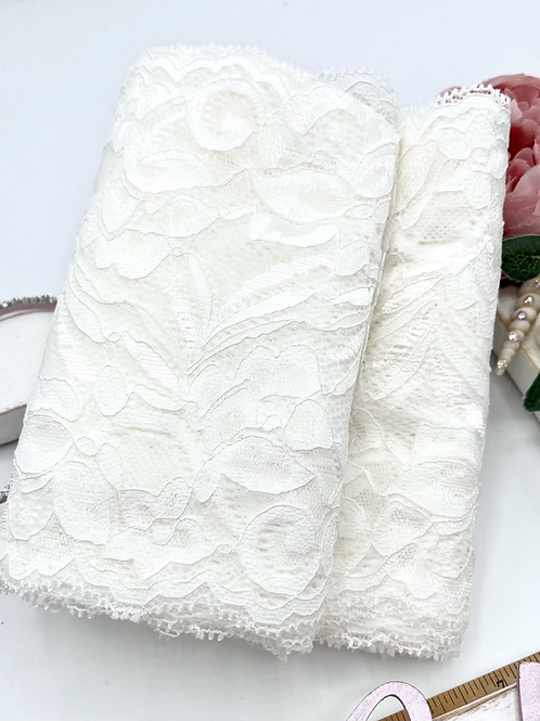 Luxury Lace Fabric Strips - Ivory
