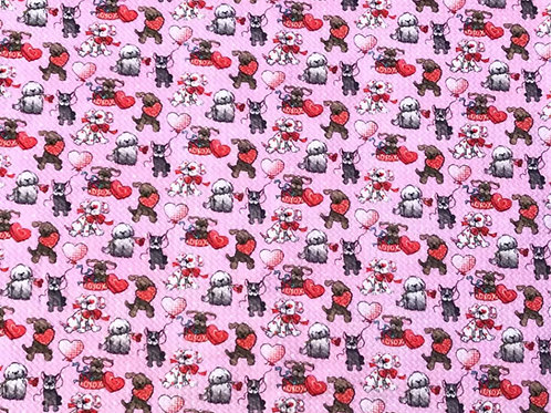 I Love Dogs Bullet Fabric