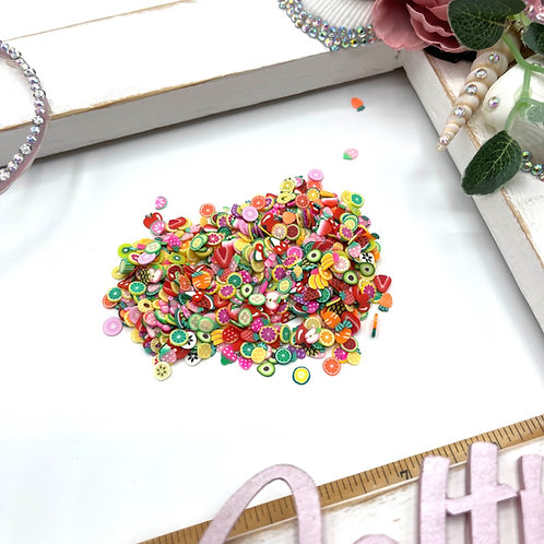 Polymer Clay Fruit Slices Shaker Filling