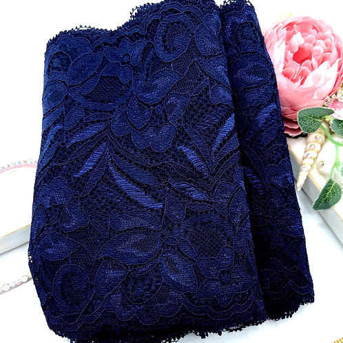 Luxury Lace Fabric Strips - Navy