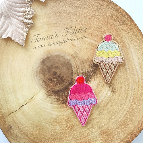 Ice Cream Cone Feltie (Pack of 4)