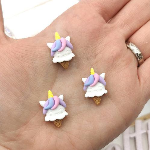 Unicorn Ice Cream Resin (Pack of 4)