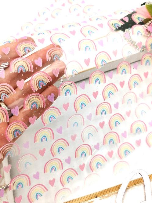 Rainbow Hearts Transparent