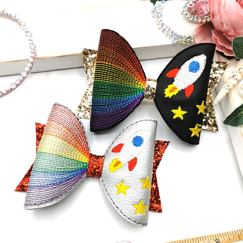Rocket Rainbow Bow Loop