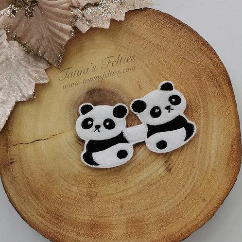 Panda Pair Bow Tails