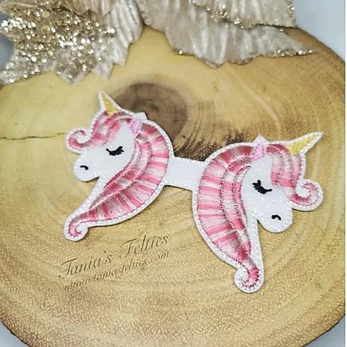 Raspberry Ripple Unicorn Bow Tails (Glitter)