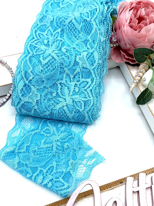 Luxury Lace Fabric Strips (Slim) - Turquoise