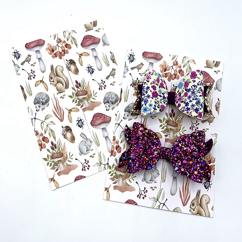 Hairbow Display Cards (Woodland Animals)