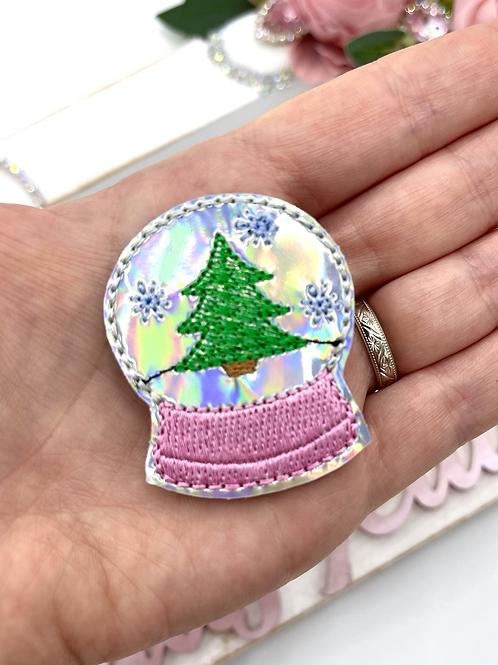Holographic Snow-Globe Feltie