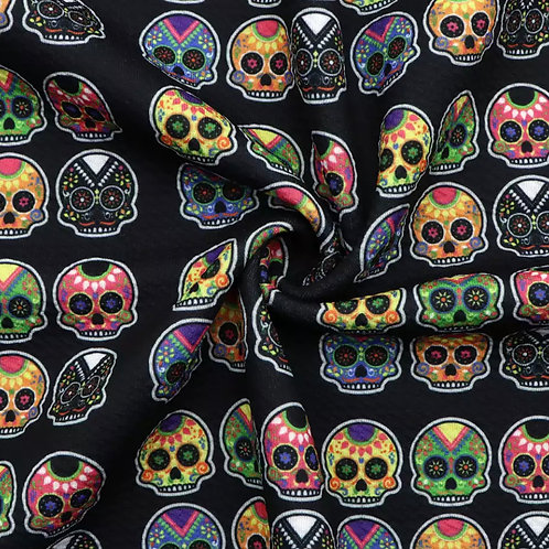 Day Of The Dead Skulls Bullet Fabric