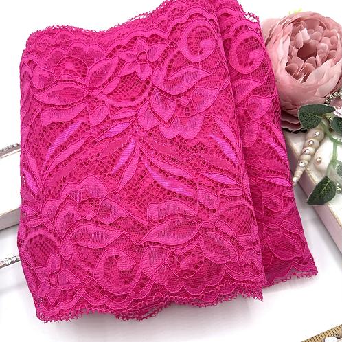 Luxury Lace Fabric Strips - Fuchsia
