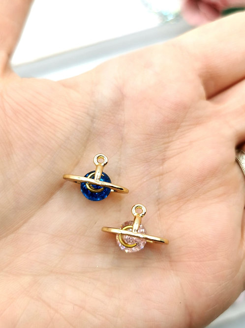 Gold Ring Planet Charms