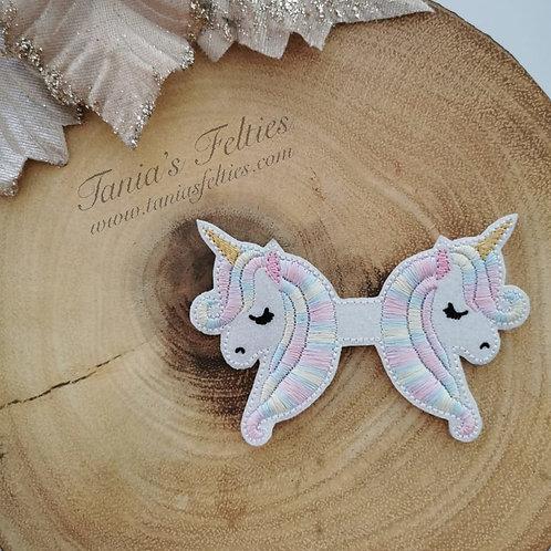 Pastel Unicorn Bow Tails (Glitter)