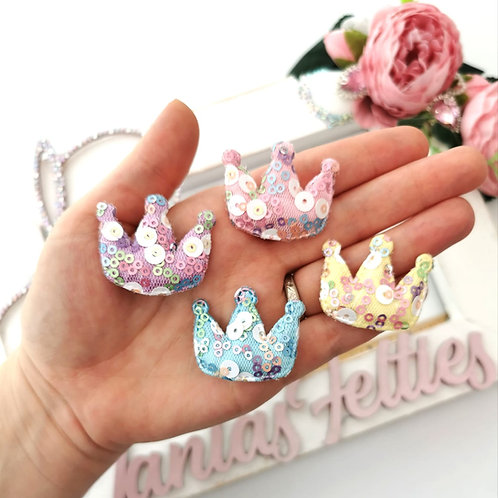 Embellishment - Padded Sequin Crown