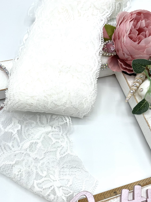 Luxury Lace Fabric Strips (Slim) - Ivory