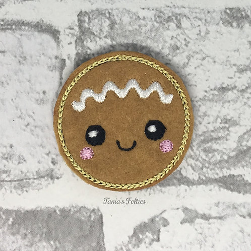 Gingerbread Baby Face Feltie (Pack of 4)