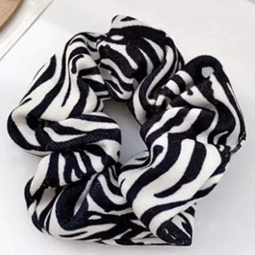 Zebra Print Scrunchies