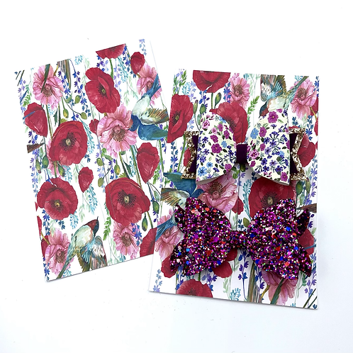 Hairbow Display Cards (Poppy Field)