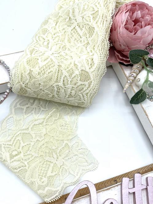 Luxury Lace Fabric Strips (Slim) - Vintage Cream