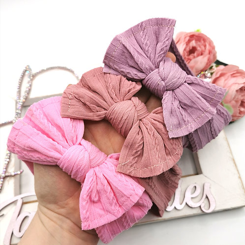 Nylon Cable Knit Headwraps