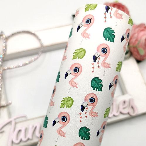 OMG! Leatherette (Flamingos)