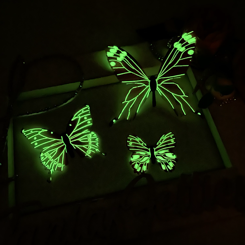 3D Glow in the Dark Butterflies