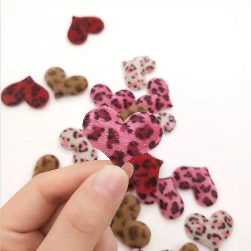 Embellishment - Furry Animal Print Heart