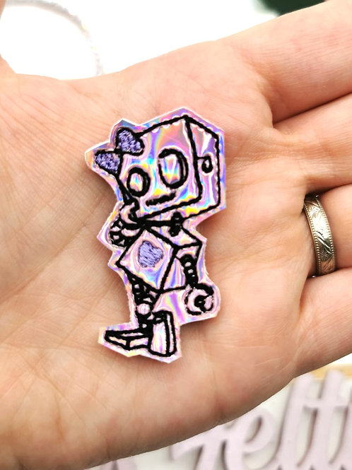 Holographic Robot Girl Felties (Pack of 2)