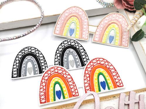 Boho Rainbow Bow Tails