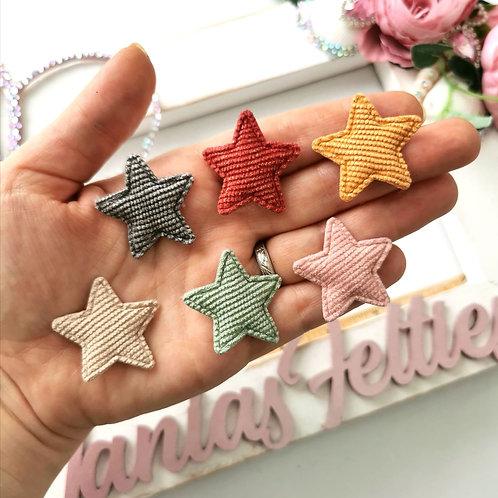 Embellishment - Padded Mini Cord Stars