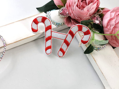 Double Candy Cane Bow Tails