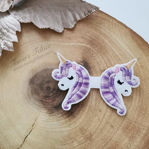 Purple Ombre Unicorn Bow Tails (Glitter)