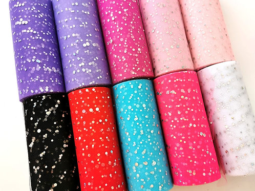 Tulle - Sequins (15cm Wide)