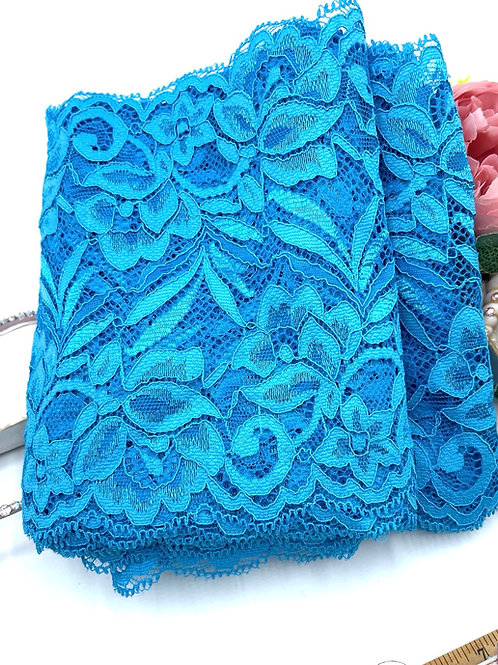 Luxury Lace Fabric Strips - Turquoise