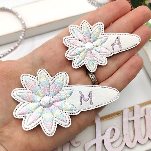 Embroidered Snap Clip Cover - Pastel