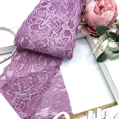 Luxury Lace Fabric Strips (Slim) - Mauve