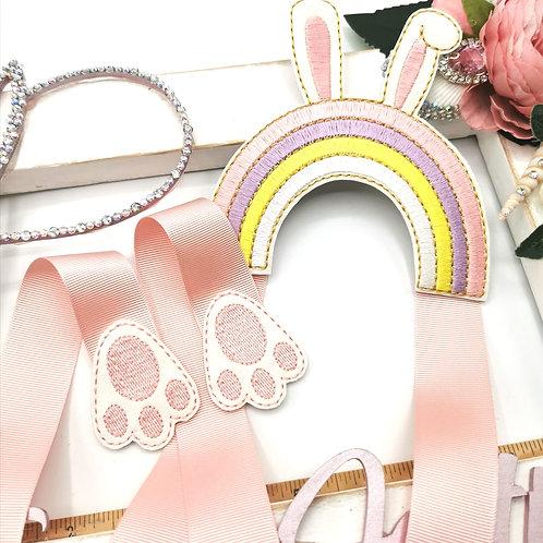 Rainbow Bunny Bow Holder