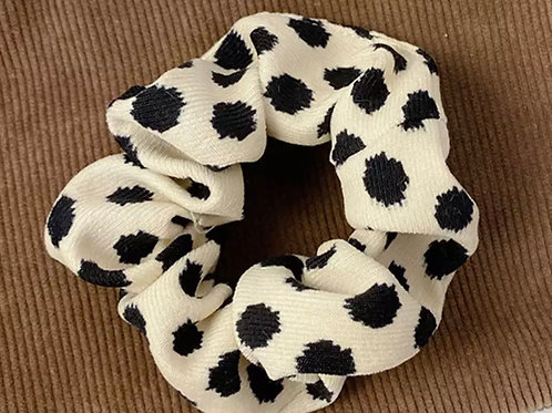 Dalmatian Print Scrunchies