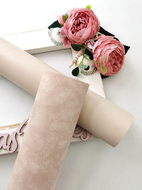 Cream Shimmer Leatherette