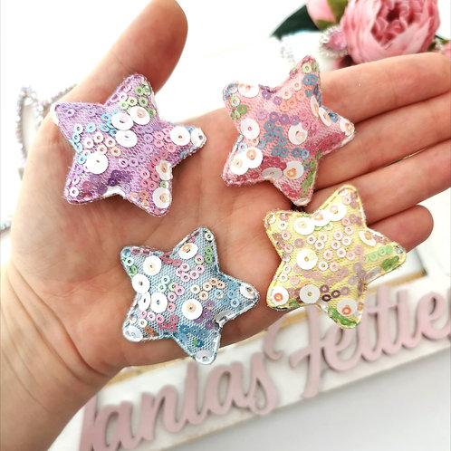 Embellishment - Padded Sequin Star