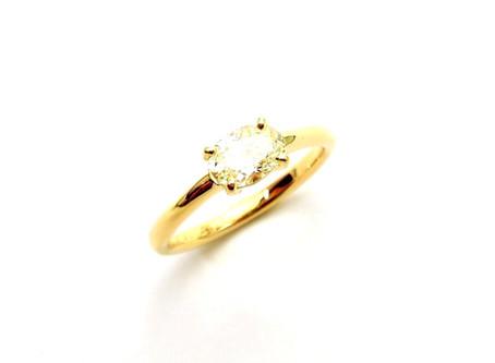 K18イエローゴールド・ダイヤモンドリング・オーダージュエリー&ジュエリーリフォーム