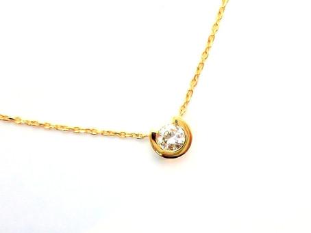 K18イエローゴールド・ダイヤモンドペンダント・ジュエリーリフォーム
