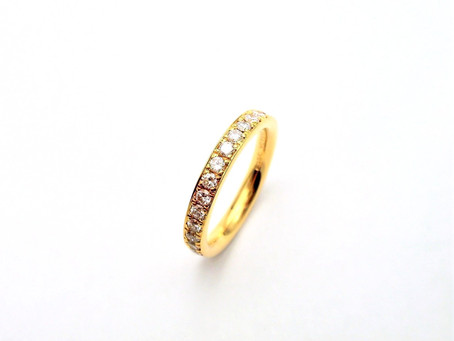 K18イエローゴールド・ダイヤモンドフルエタニティーリング・オーダージュエリー