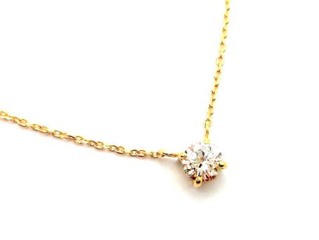 K18イエローゴールド・ダイヤモンドネックレス・オーダージュエリー