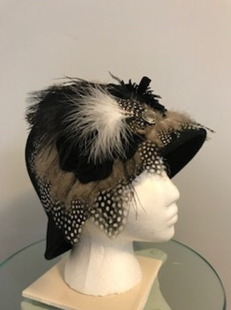 "Breeders' Cup Wool Hat - ""Dotted Whimsy"""