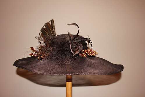 """""""Loading the Gate""""  - brown sinamay Kentucky Derby Hat"""